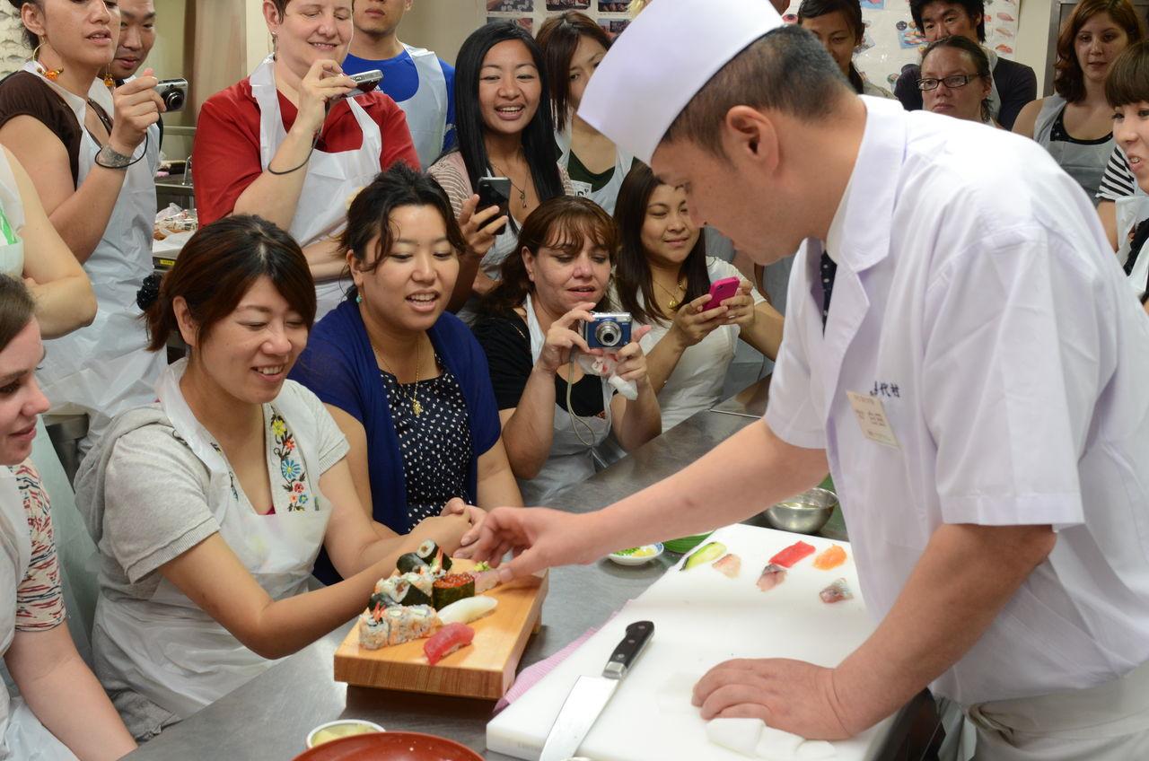 Sushi Making Tsukiji Tokyo Fish Market
